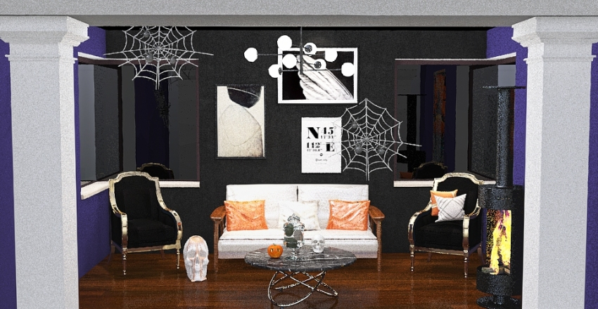 Halloween Room Interior Design Render