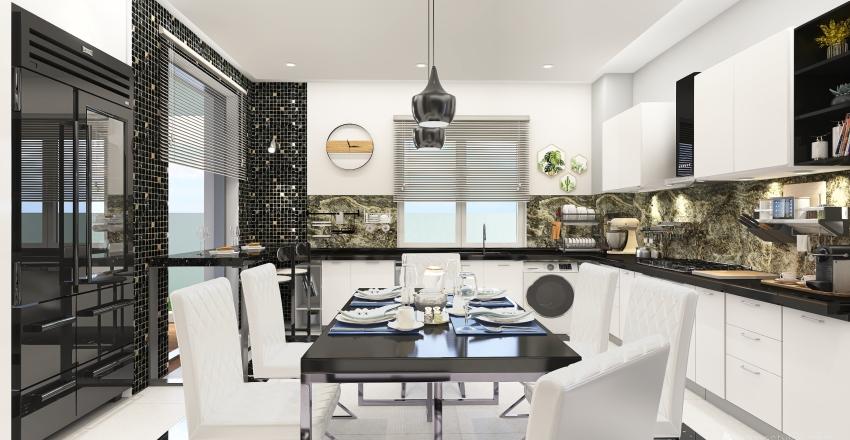 Tunisian Modern House  Interior Design Render
