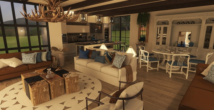village Interior Design Render