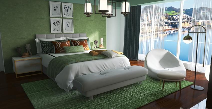 The Green room Interior Design Render