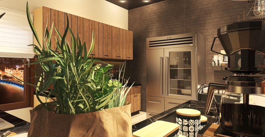 #HSDA2020Residential-Industrial design style-kitchen Interior Design Render