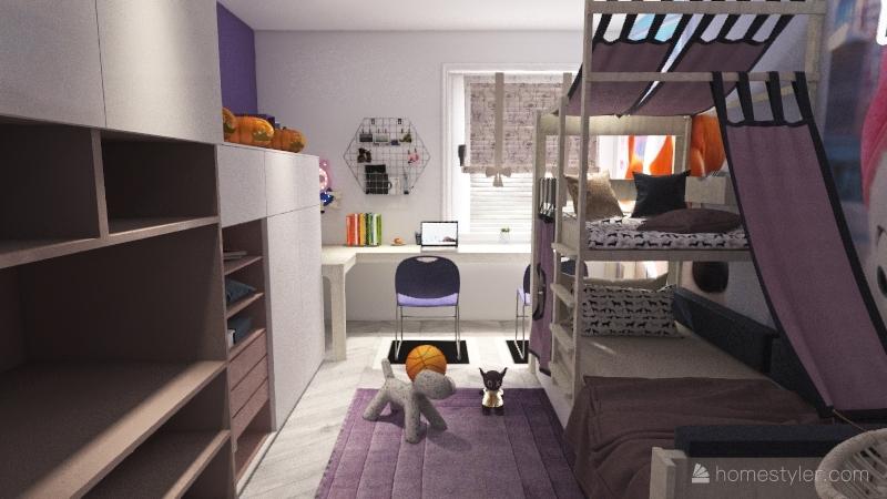 Pokój dla 5l Interior Design Render