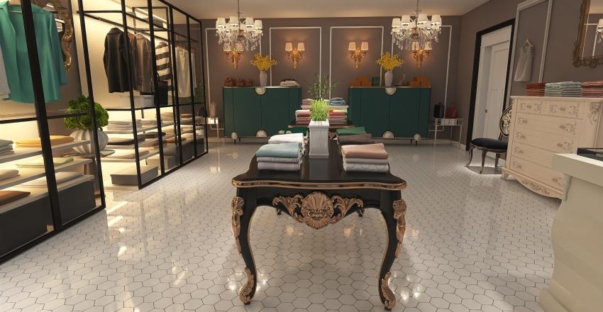 Tienda de ropa Interior Design Render