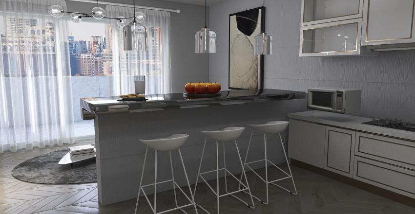 City small apartment Interior Design Render