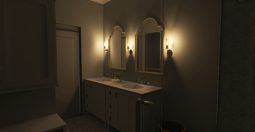 BS Bathroom Interior Design Render