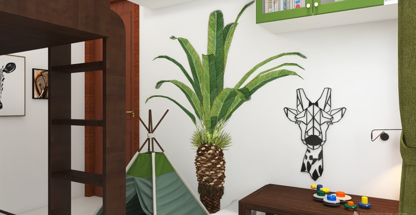 #HSDA2020Residential Tropical - Home Office Interior Design Render