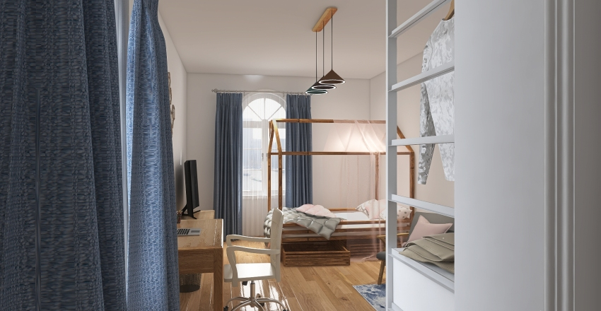 Colocation for 4 pers. Interior Design Render