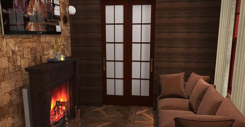 Cabin in the woods Interior Design Render
