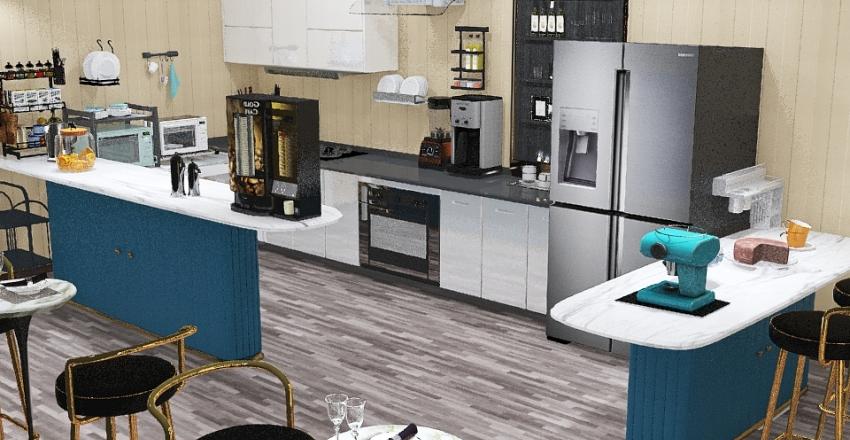 cafeteria Interior Design Render