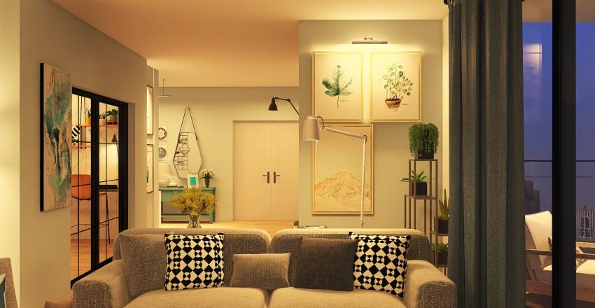 House in Manhattan Interior Design Render