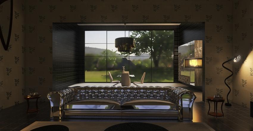 Classic Living room Interior Design Render