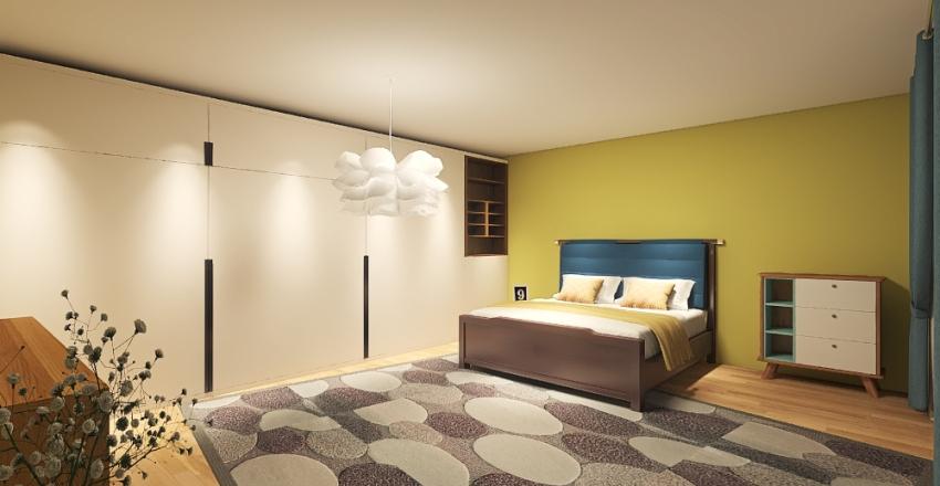 cozy colorfull aparment Interior Design Render