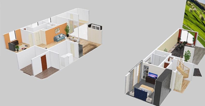 Dependance alone Interior Design Render