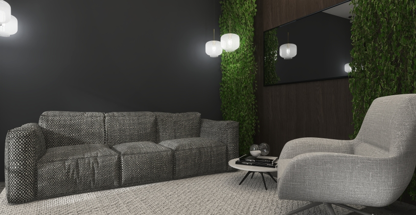 Small modern apartment design Interior Design Render