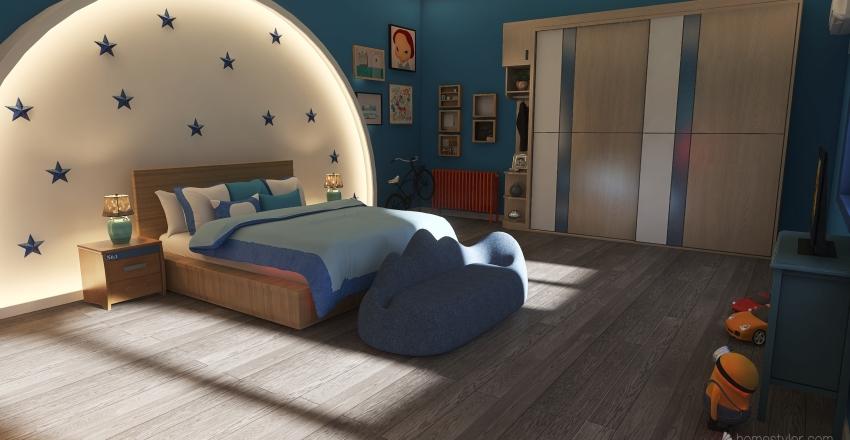 blue r Interior Design Render