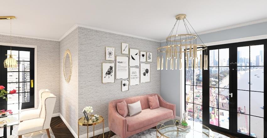 Paris style Interior Design Render