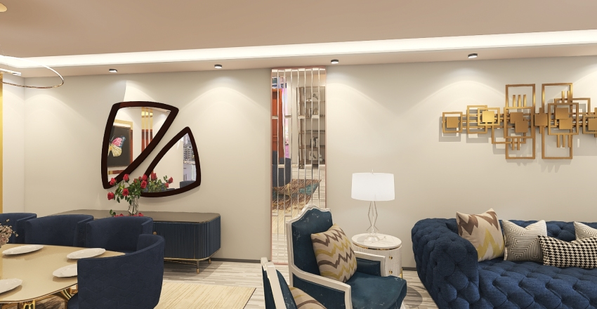 blue Interior Design Render