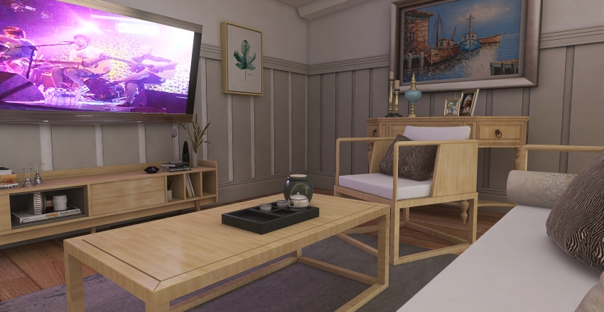 Beach Interior Design Render