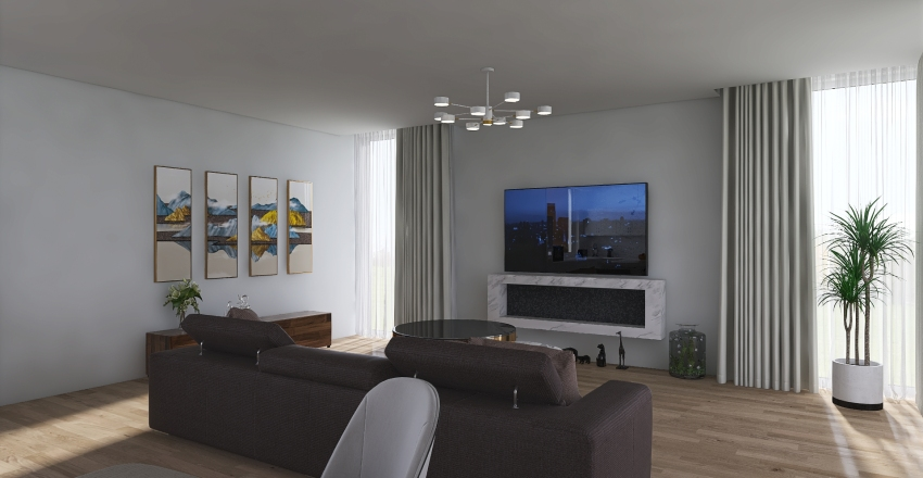 Interior of Gray   Interior Design Render