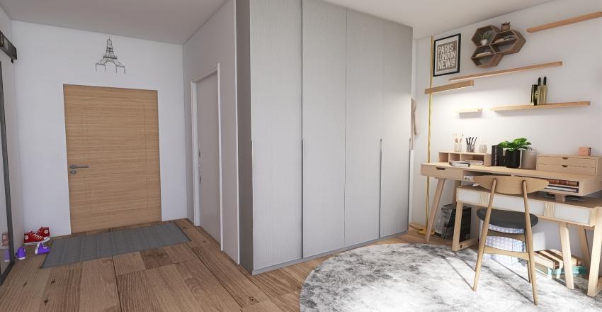 college dorm in Paris Interior Design Render