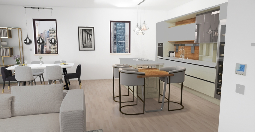 v2_Appartement Sauvy Interior Design Render