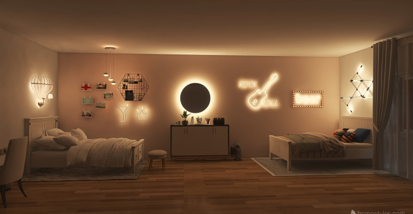 Teen dorm Interior Design Render