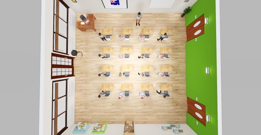 Miguel de Cabo Riveiro Classroom Interior Design Render