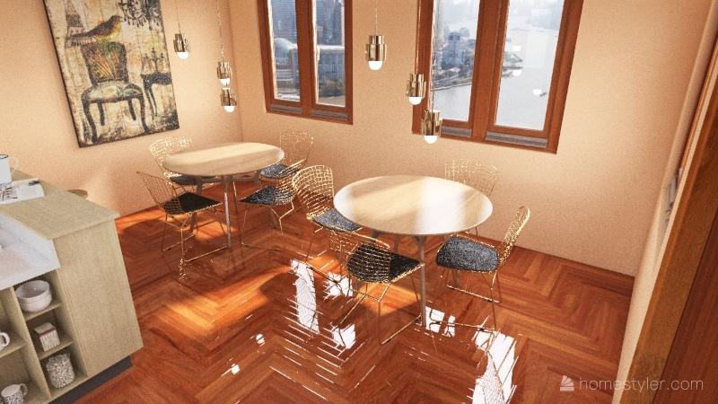 Little Coffee Shop Interior Design Render