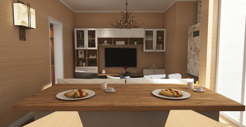 #HSDA2020Residential Cottage Interior Design Render