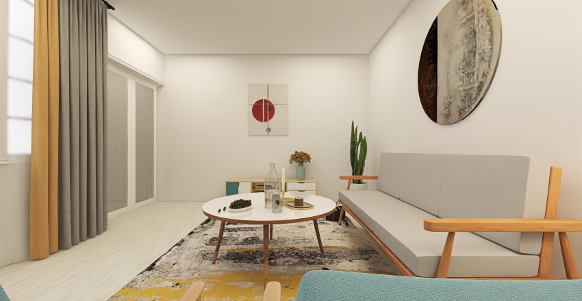 cozy living room Interior Design Render
