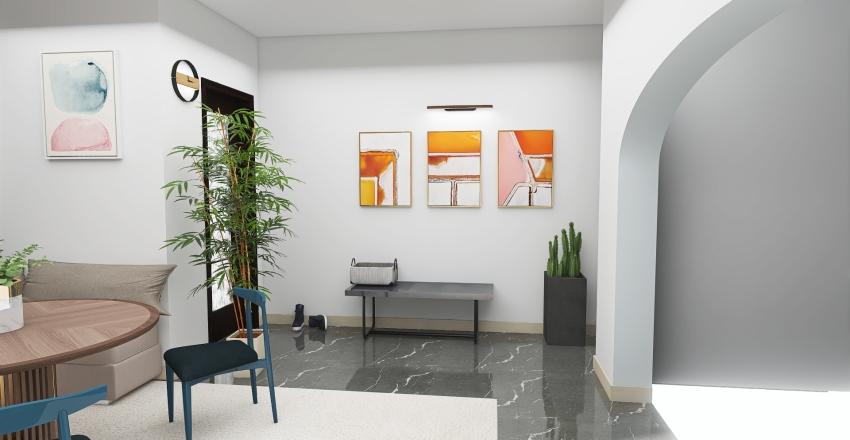 Breakfast Nook Interior Design Render