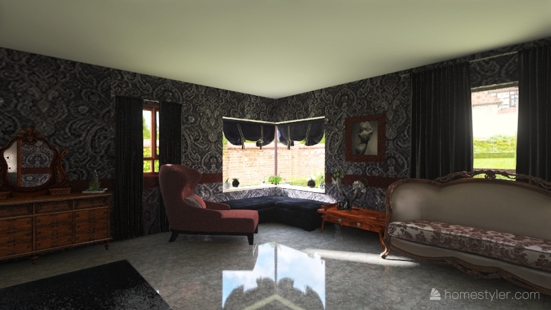 Ranch Style Home Interior Design Render