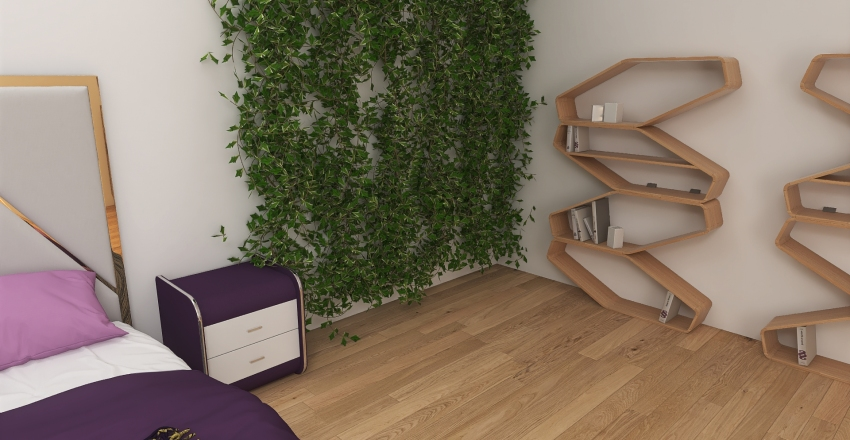 Lovely Bedroom Interior Design Render