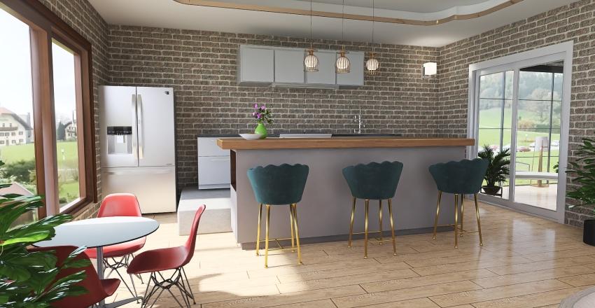 #HSDA2020ResidentialCountrySideHouse Interior Design Render