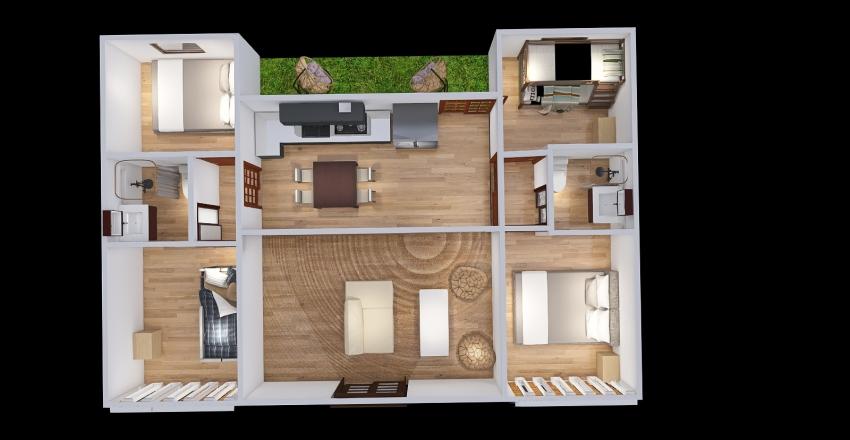 Mauricio 3 contenedores Interior Design Render