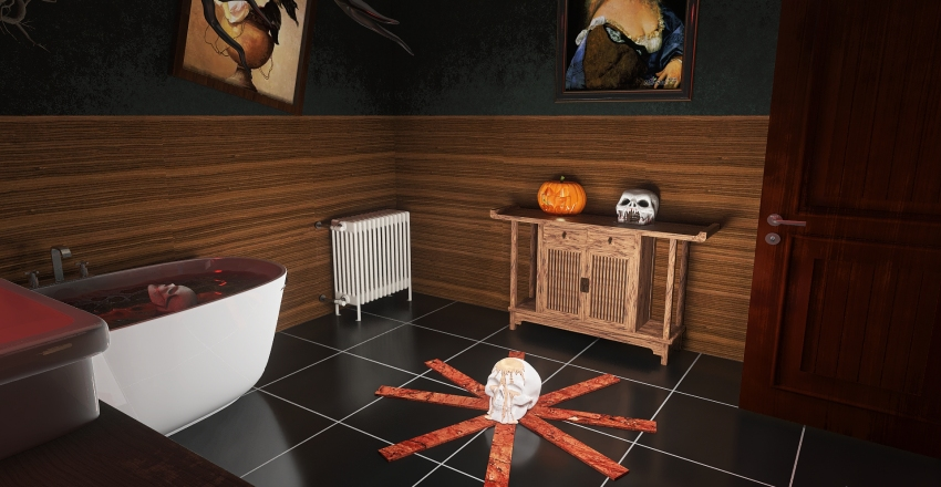 Haunted House Interior Design Render