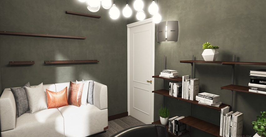 Interior Design of the house in modern and minimalistic style Interior Design Render