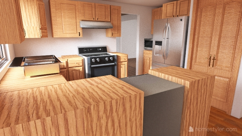 Existing Layout Interior Design Render