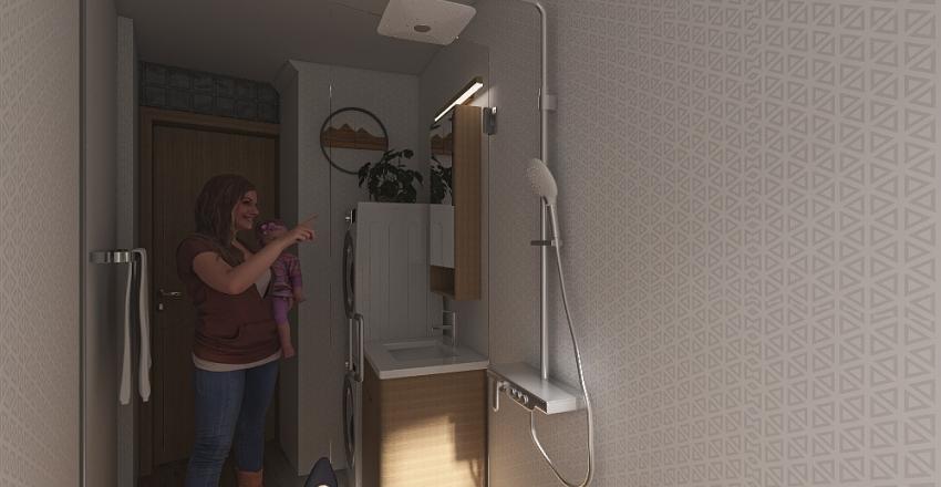 Atypical bathroom Interior Design Render
