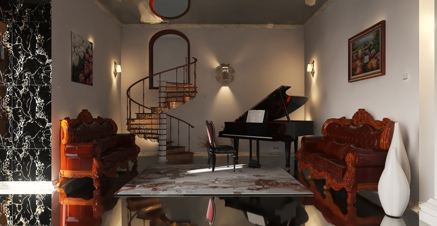 Luxe Interior Design Render
