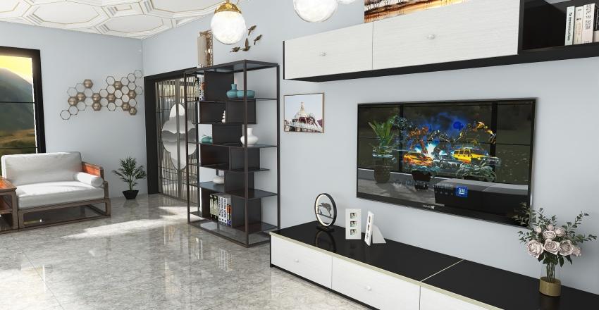 #HSDA2020ResidentialHillTop House Interior Design Render
