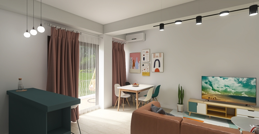 Too good for Airbnb - Flat Interior Design Render