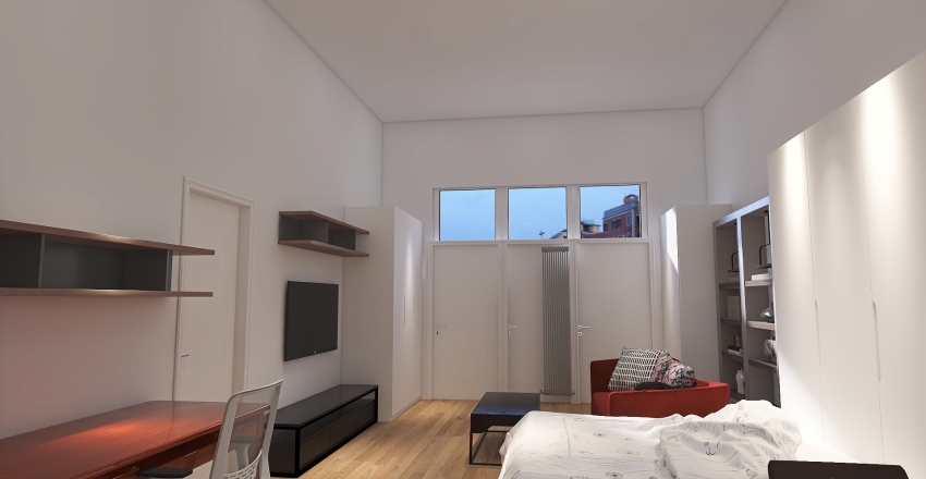 monolocale 10 Interior Design Render