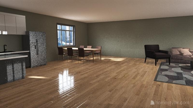 projekt mieszkania Interior Design Render