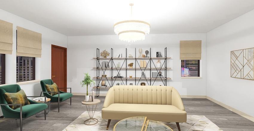 Mid Century Modern Interior Design Render