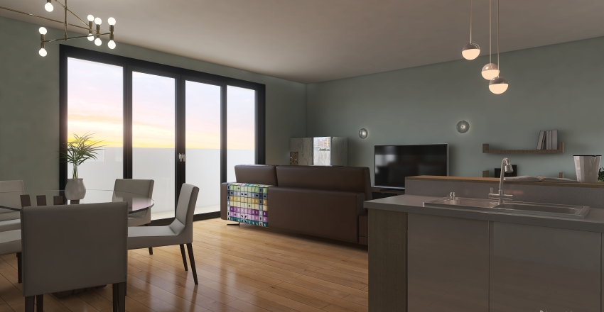 Open space Interior Design Render