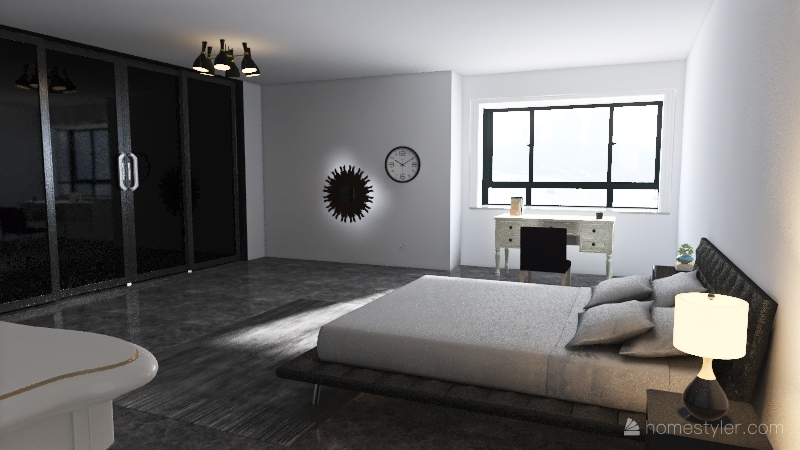 Master Bed & Bath Interior Design Render