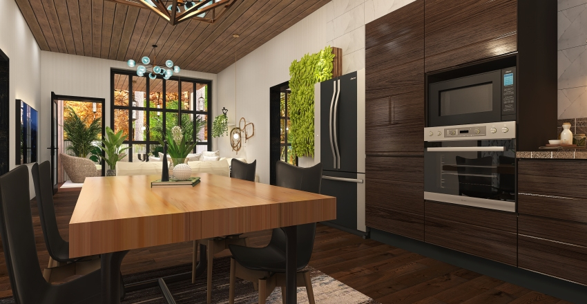 #HSDA2020Residential¨Treehouse Interior Design Render