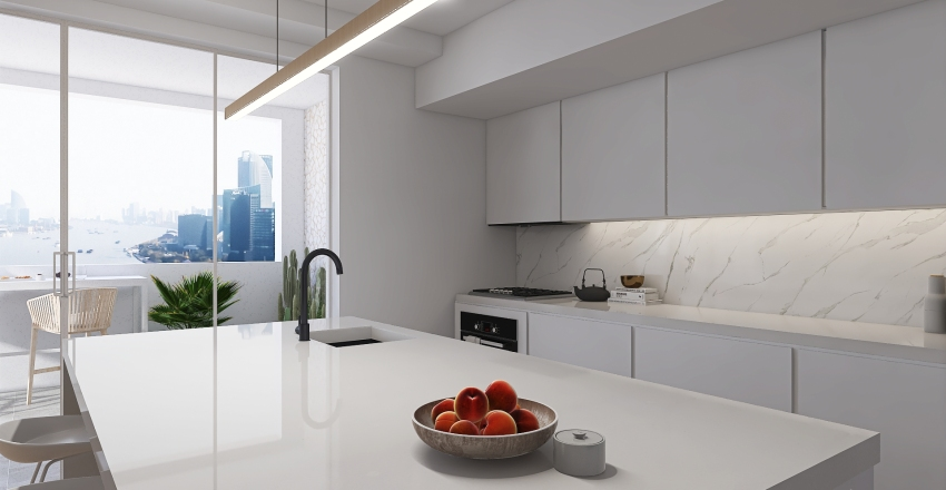 #HSDA2020Residential Contemporary Apartment Interior Design Render