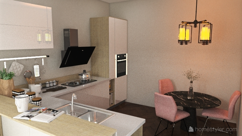 1189 Apartment Interior Design Render